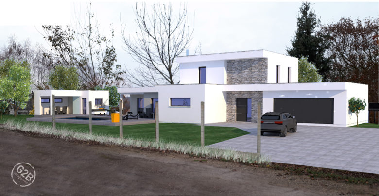 maison neuve toit plat