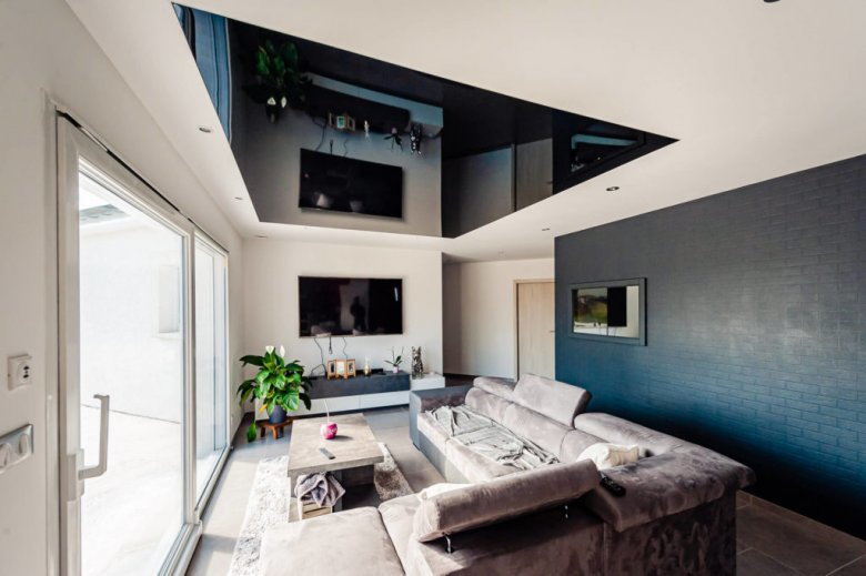 renovation toile plafond